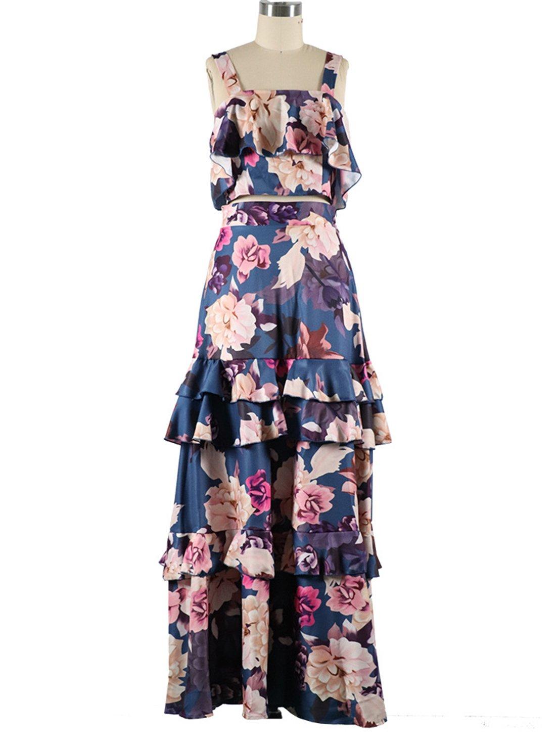 Wholesale Crop Top Floral Dress