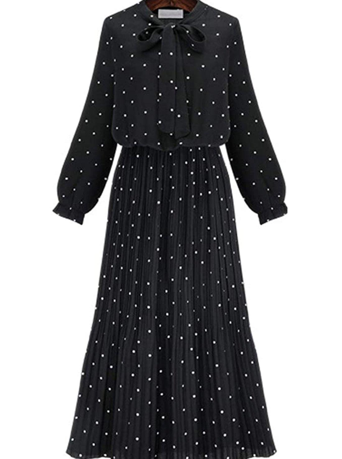 Wholesale Polka Dot Chiffon Dress