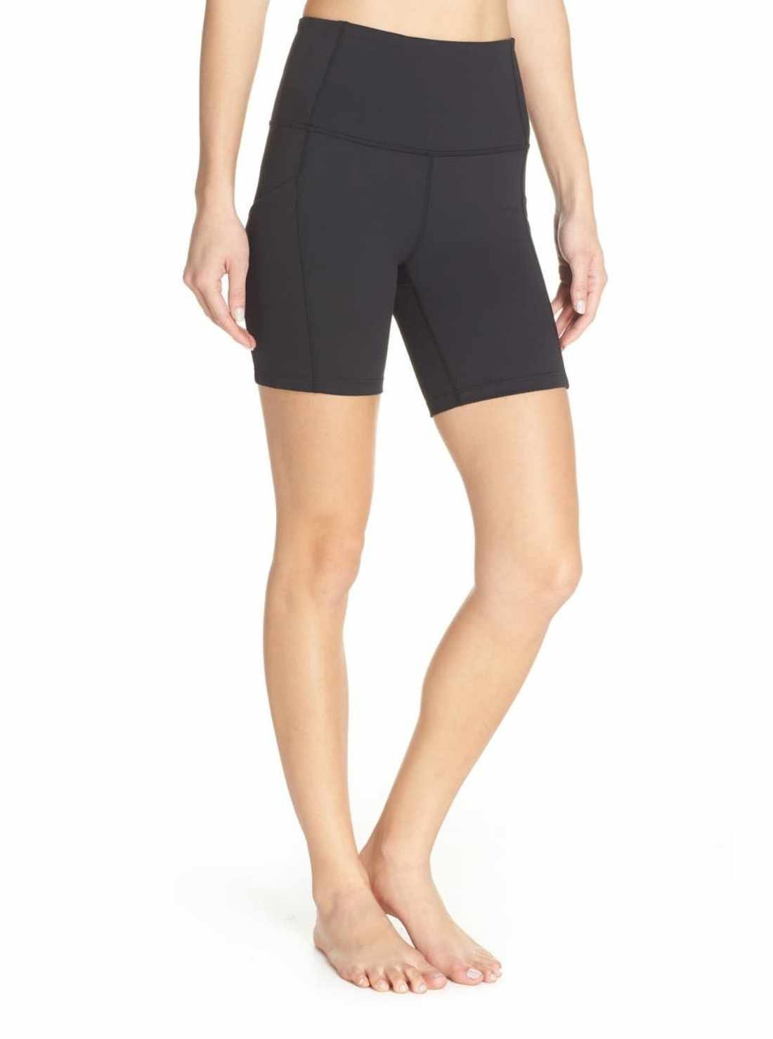 High waist pocket bike shorts