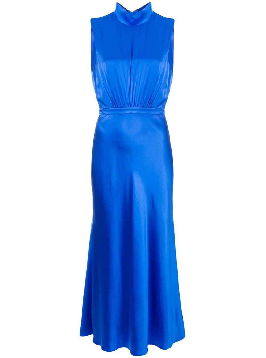 Turtleneck silk dress