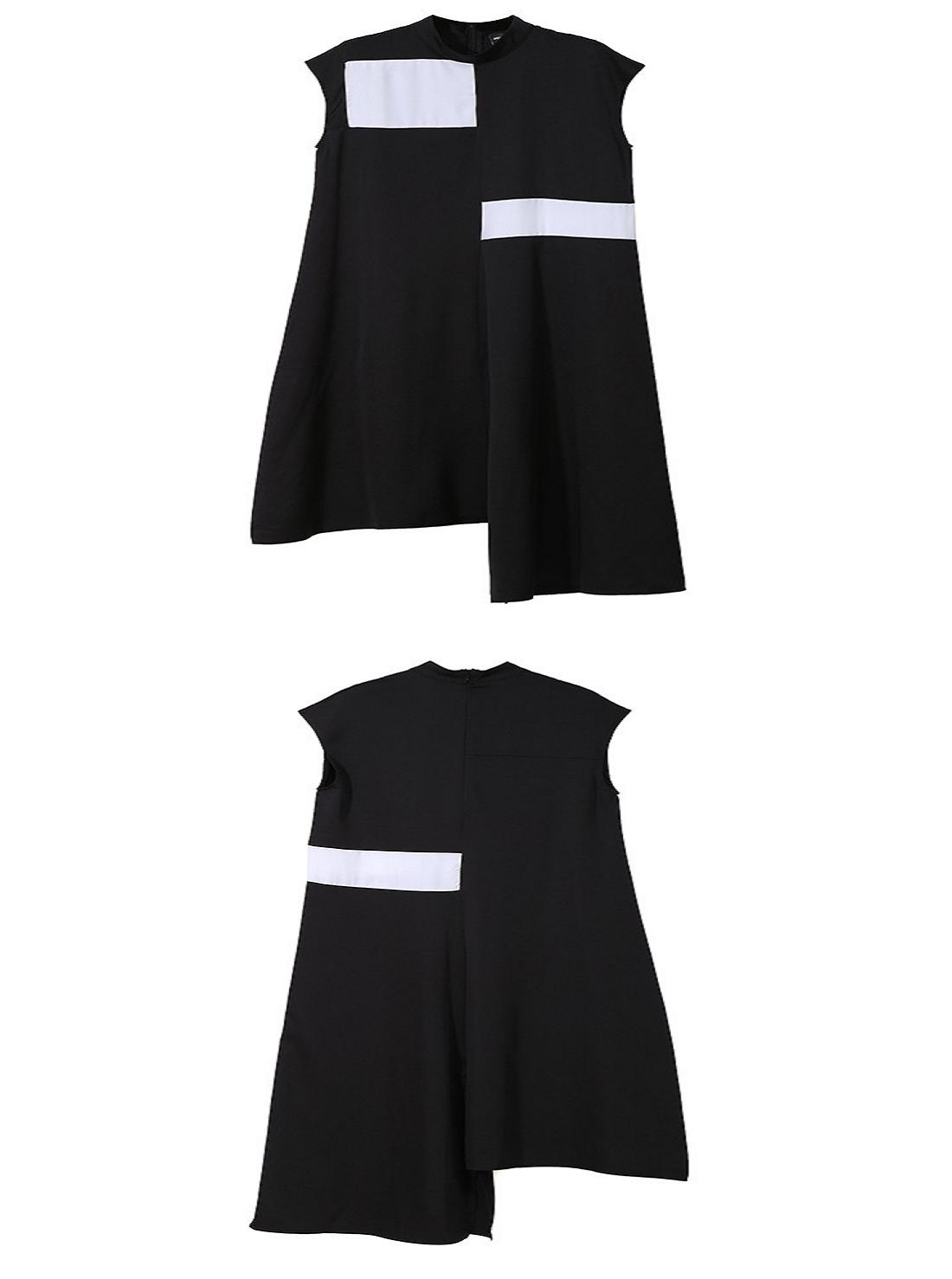 Wholesale Asymmetrical Black Dress