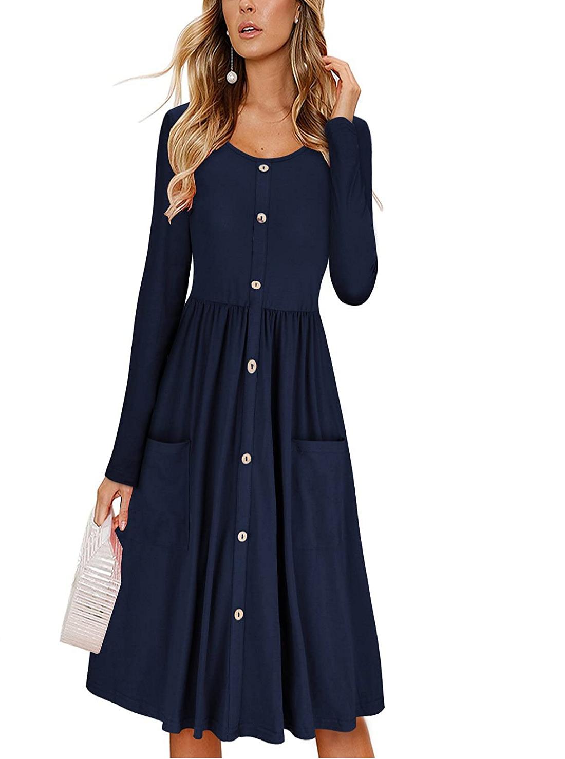 7 Wholesale Casual Long Sleeve Dresses