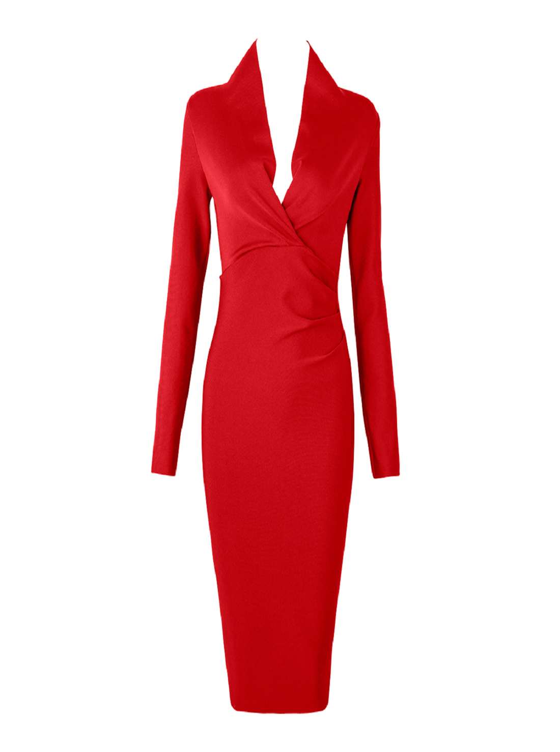Wholesale Long Sleeve Red Dress