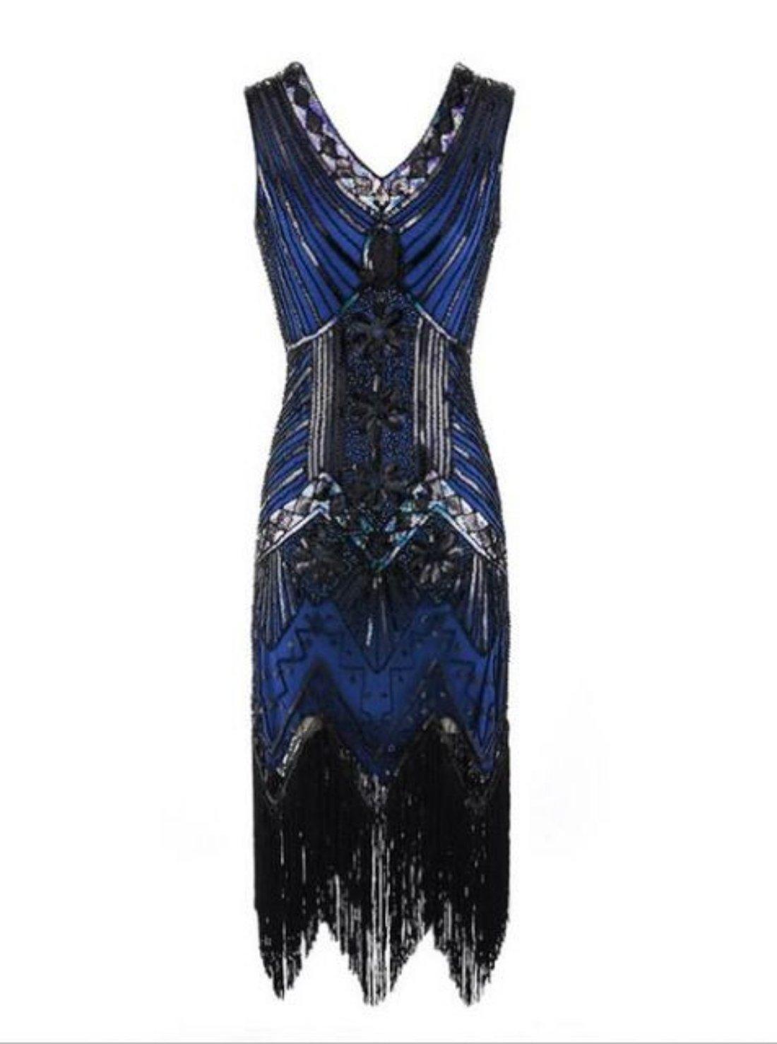 Wholesale Sleeveless V-neck Flapper Dress