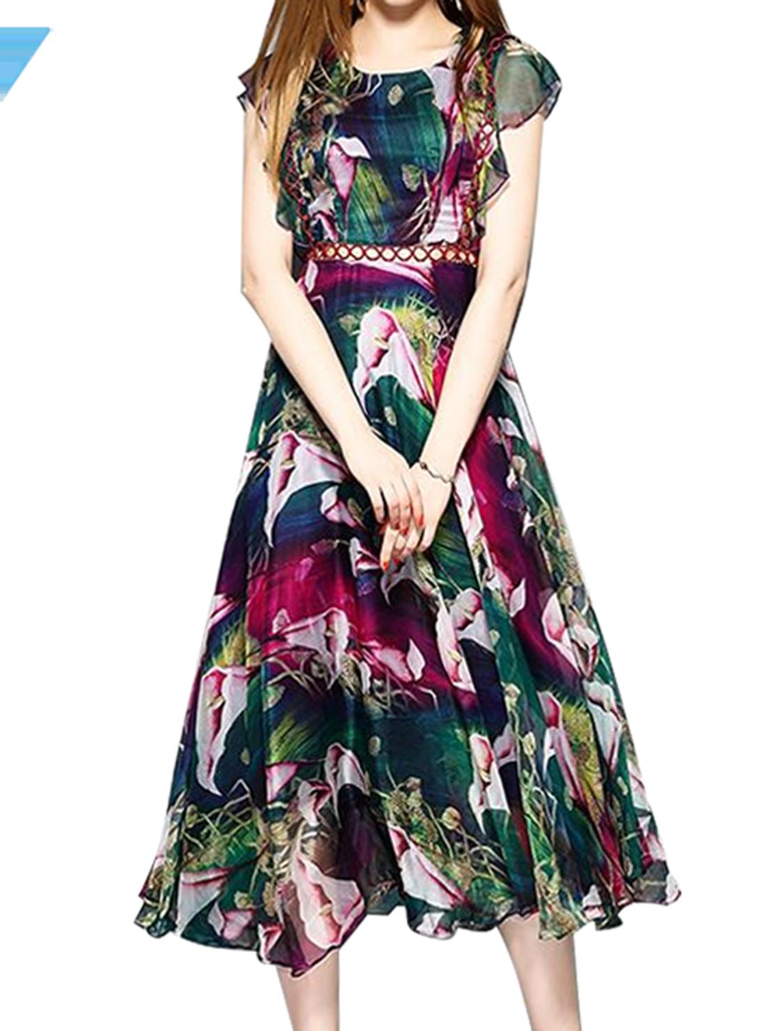 Casual Floral Print Maxi Dresses