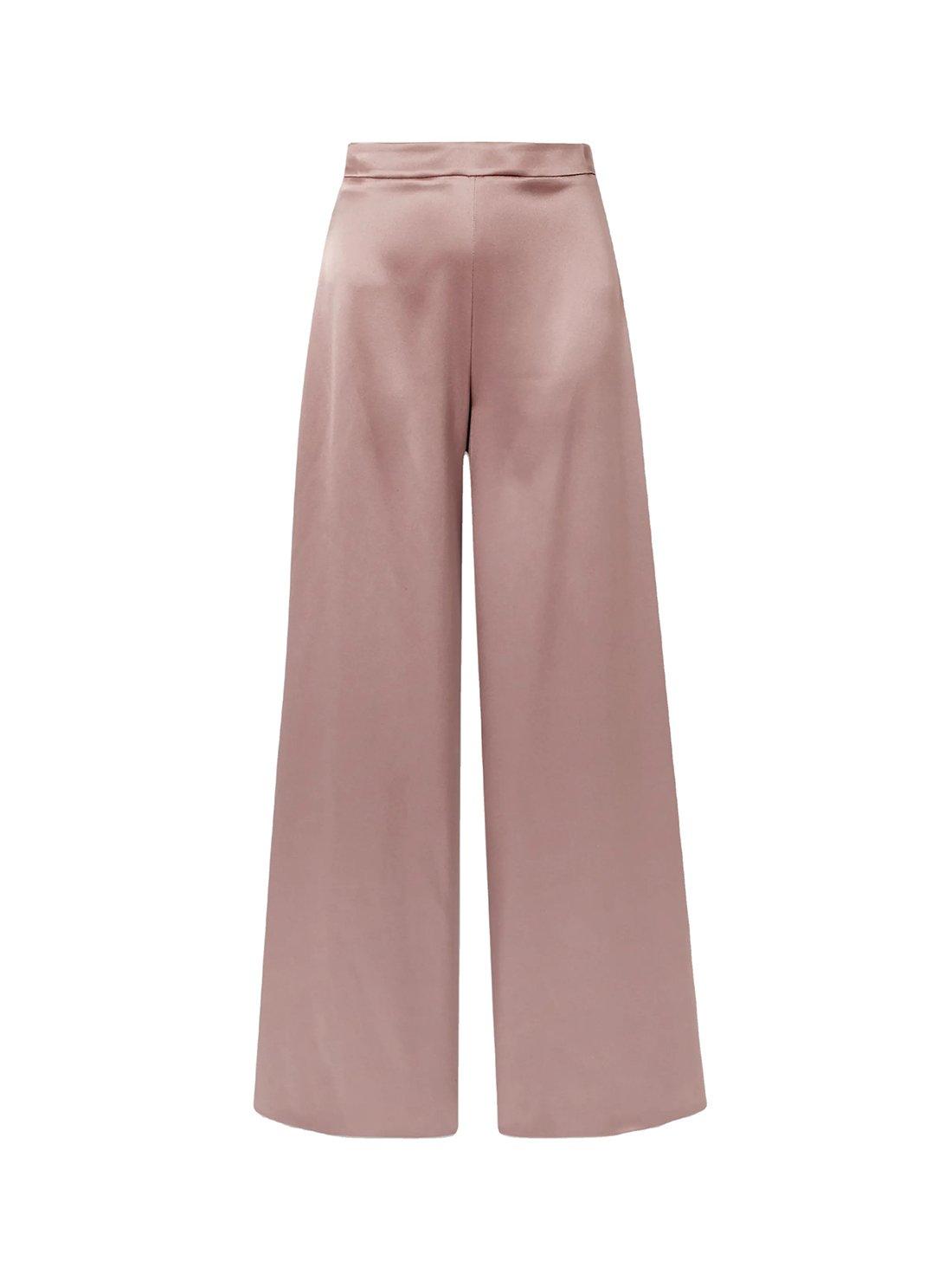Summer Silk Wide Leg Pants
