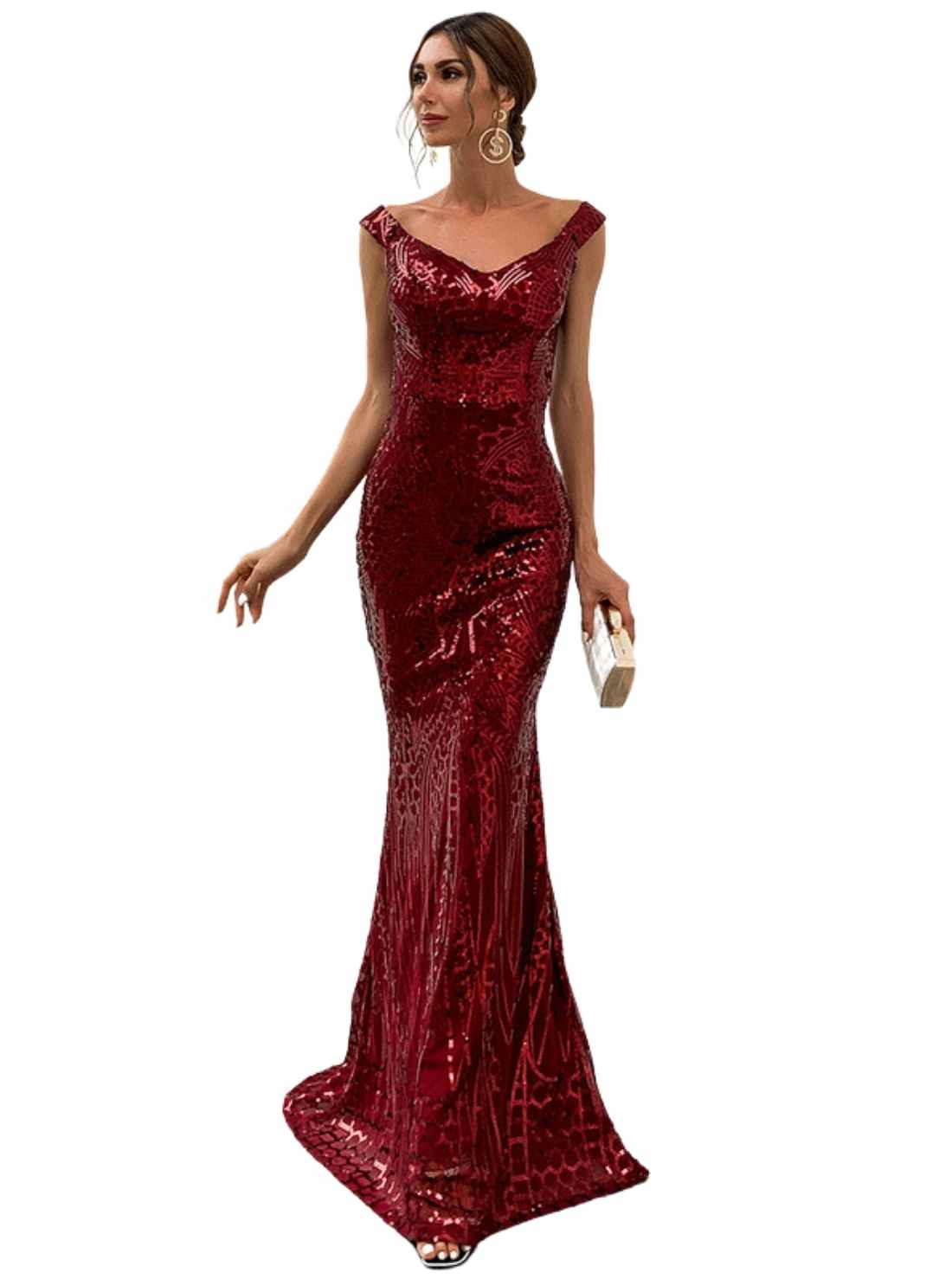 Wholesale Sequined Fishtail Occasion Dress