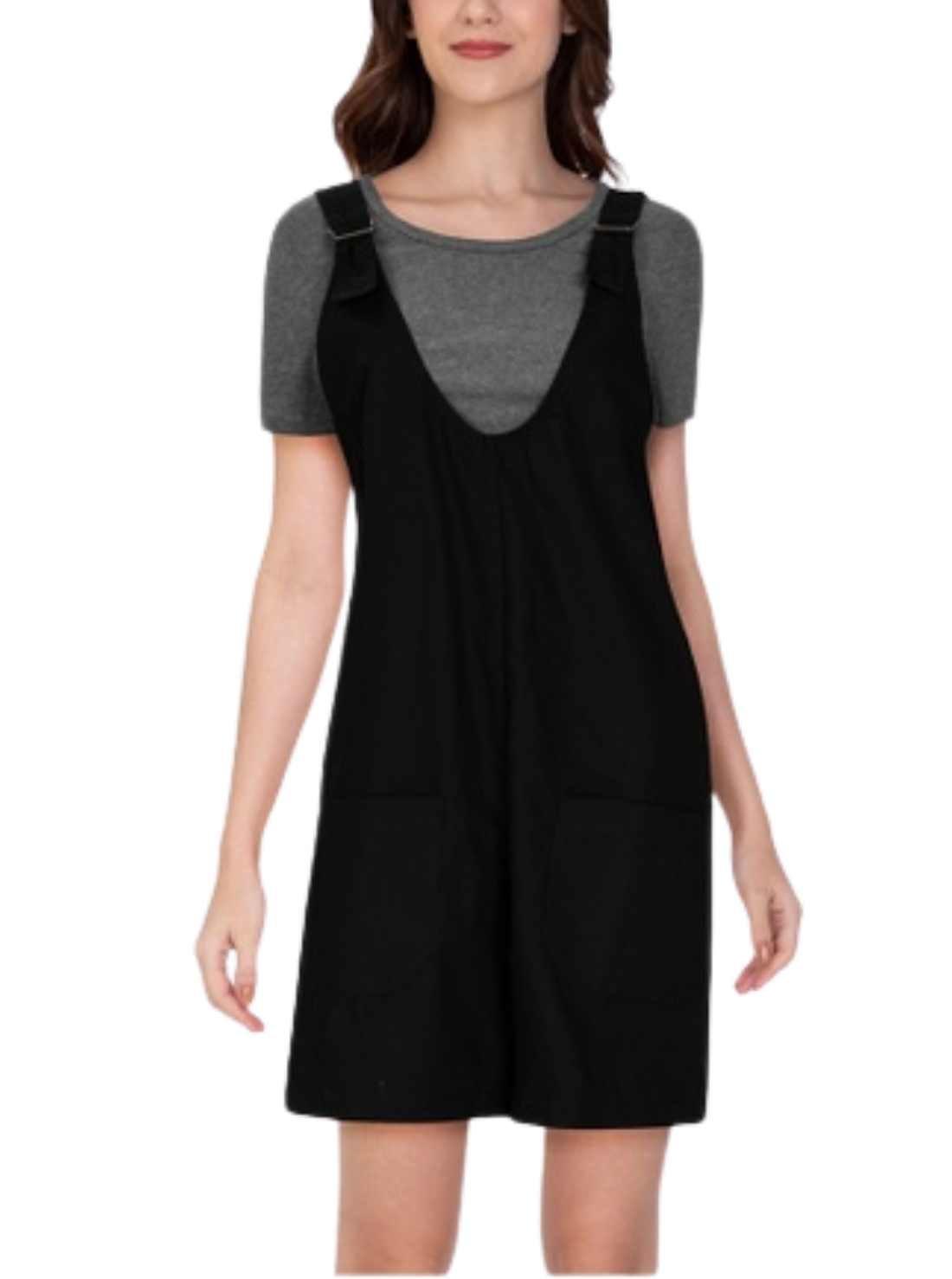 Solid Tone Jumper Shift Dress