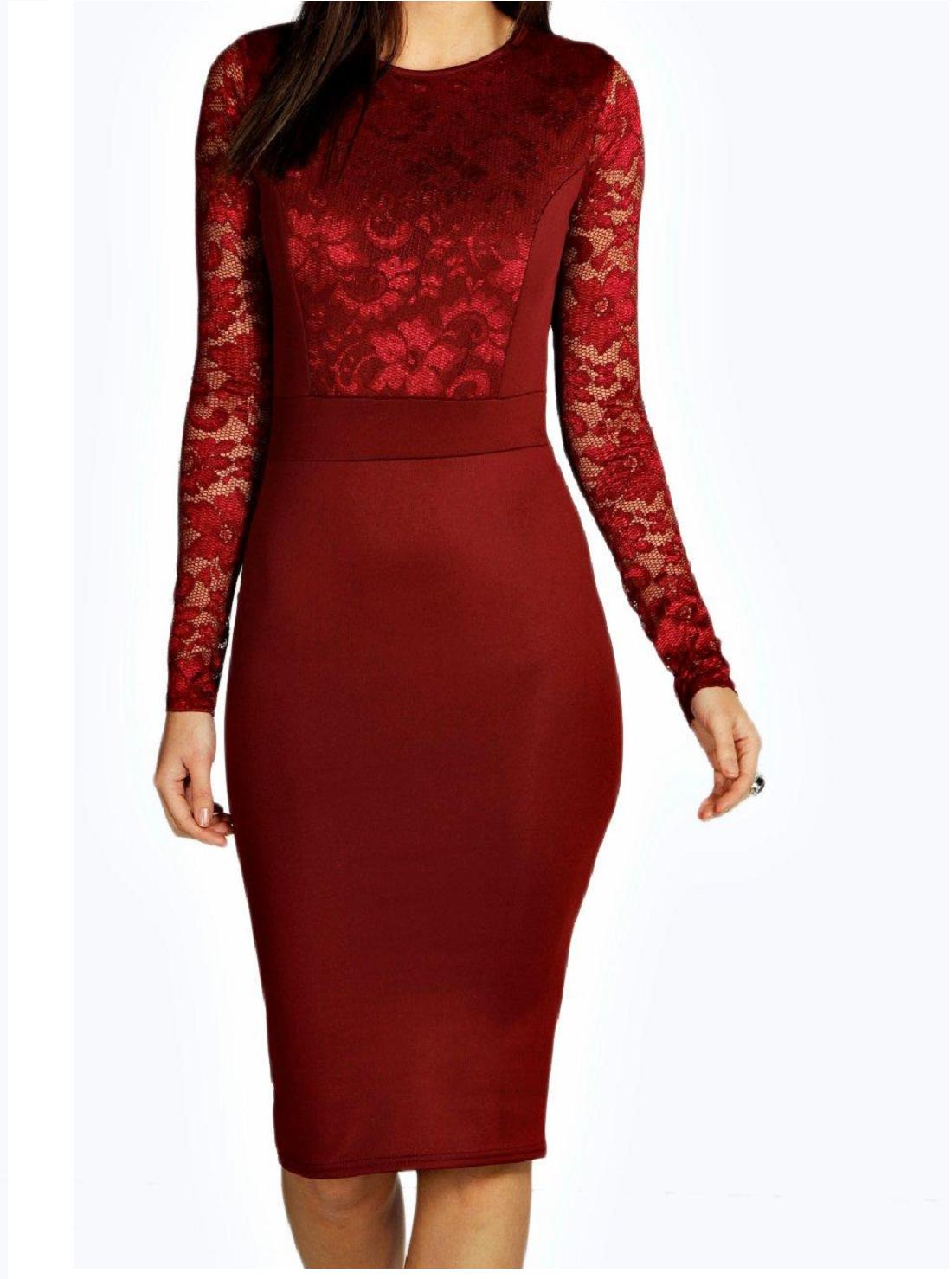 8 Wholesale Bodycon Long Sleeve Dresses