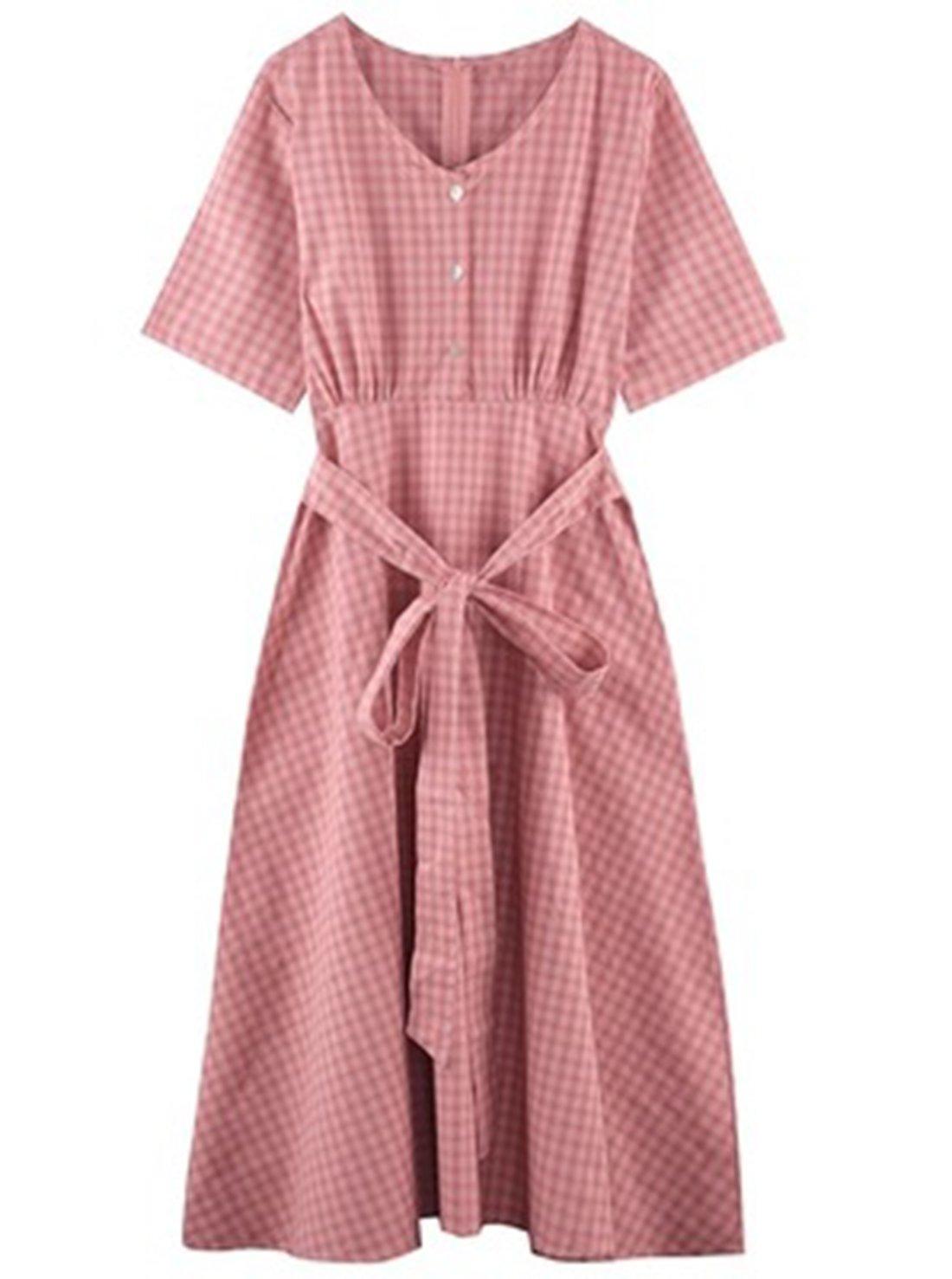 A-line Plaid Ladies Garments