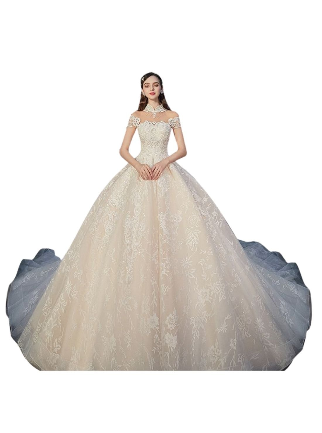 Champagne Bridal Dresses Ball Gown China