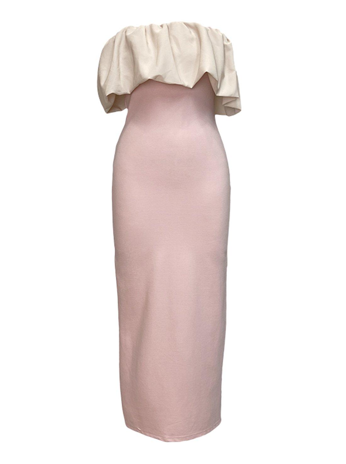Ruffle Tube Off Shoulder Bodycon Dress