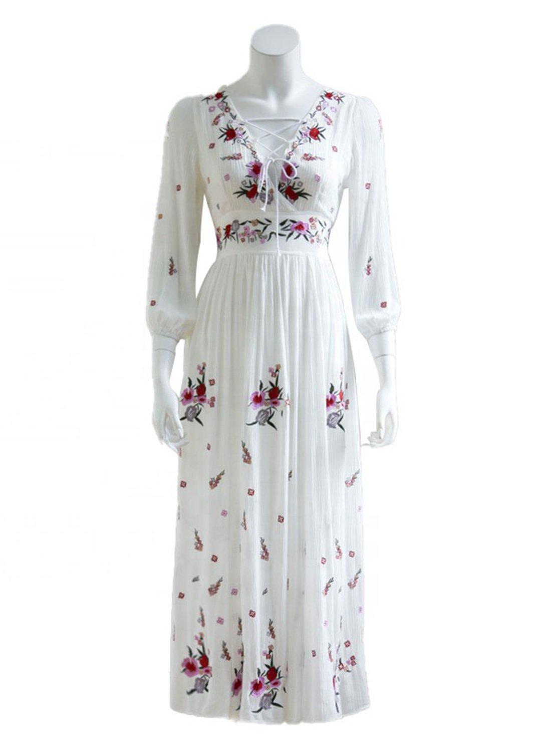 Wholesale Long Sleeve Floral Dress
