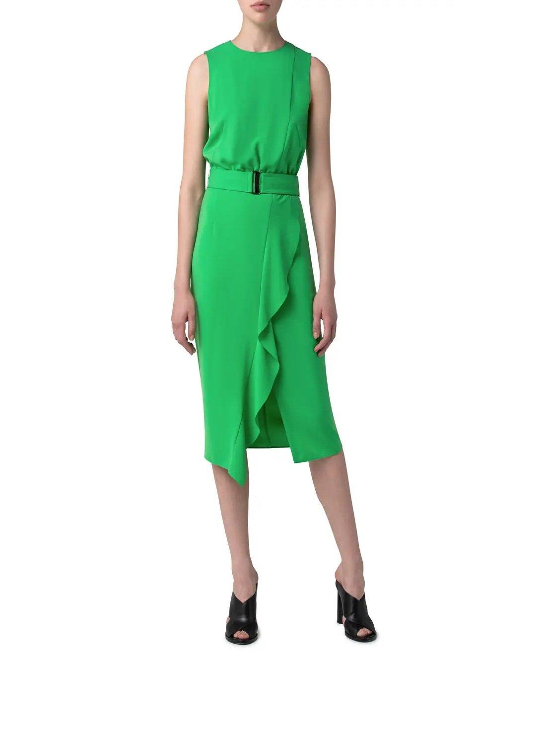 Laser Cut Crepe Midi Dress