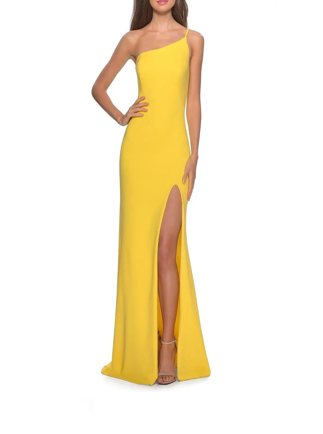 One-Shoulder Jersey Gown