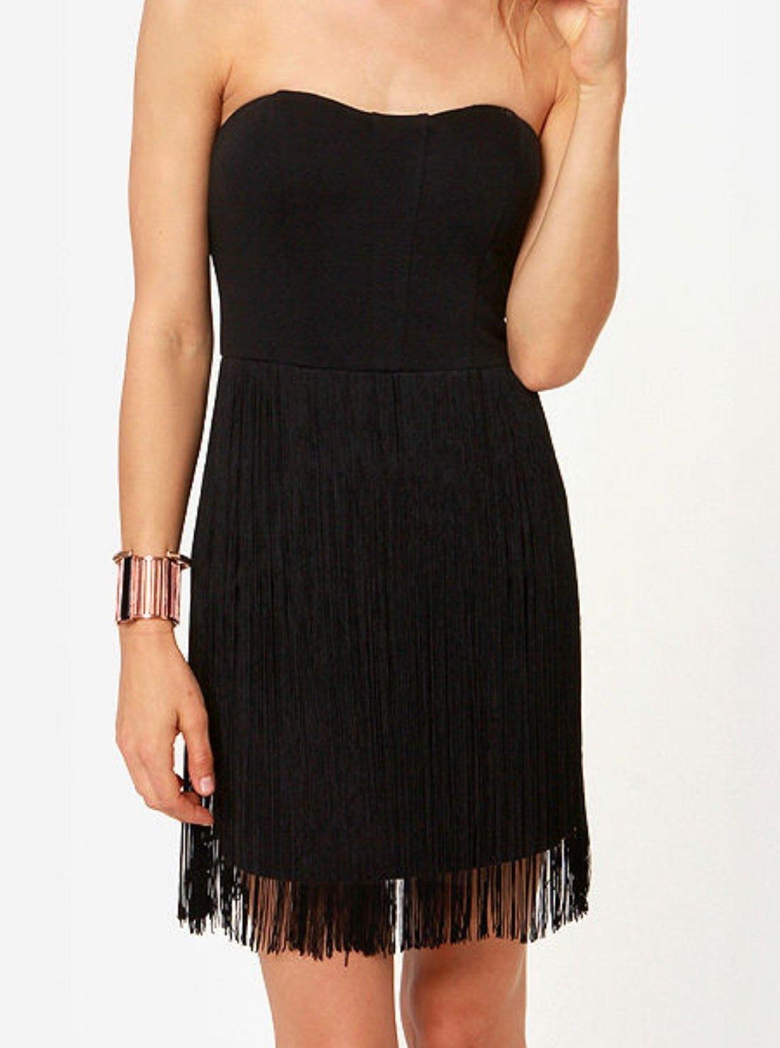 Wholesale Strapless Flapper Dress
