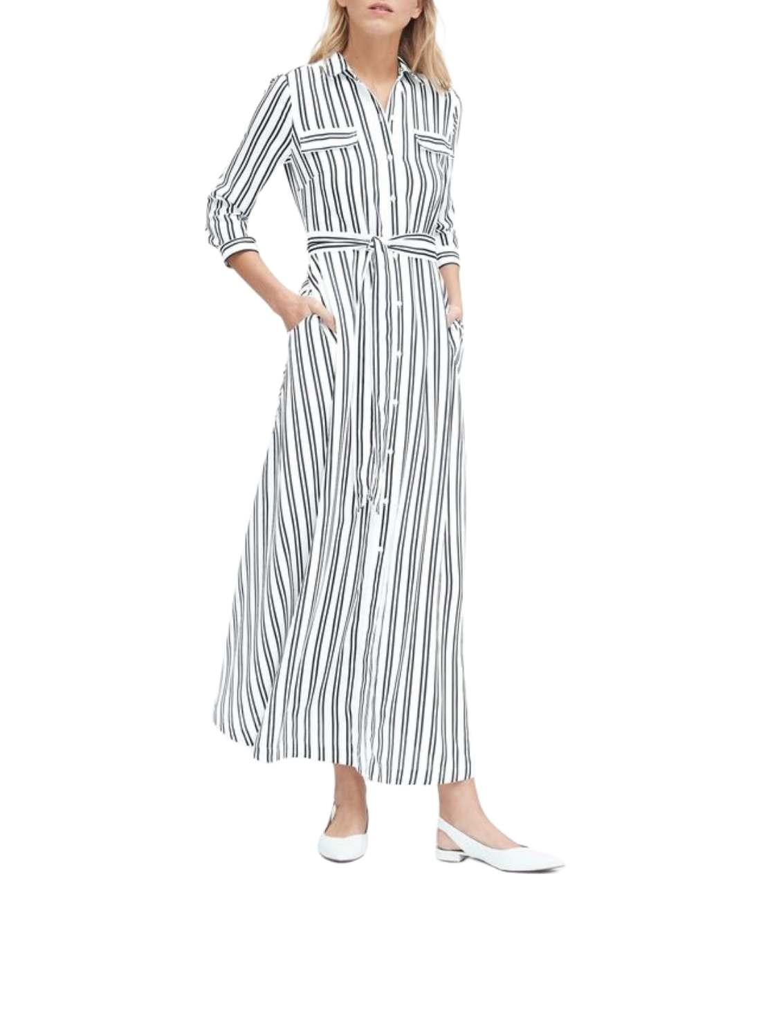 Custom Petite Girl Stripe Maxi Dress