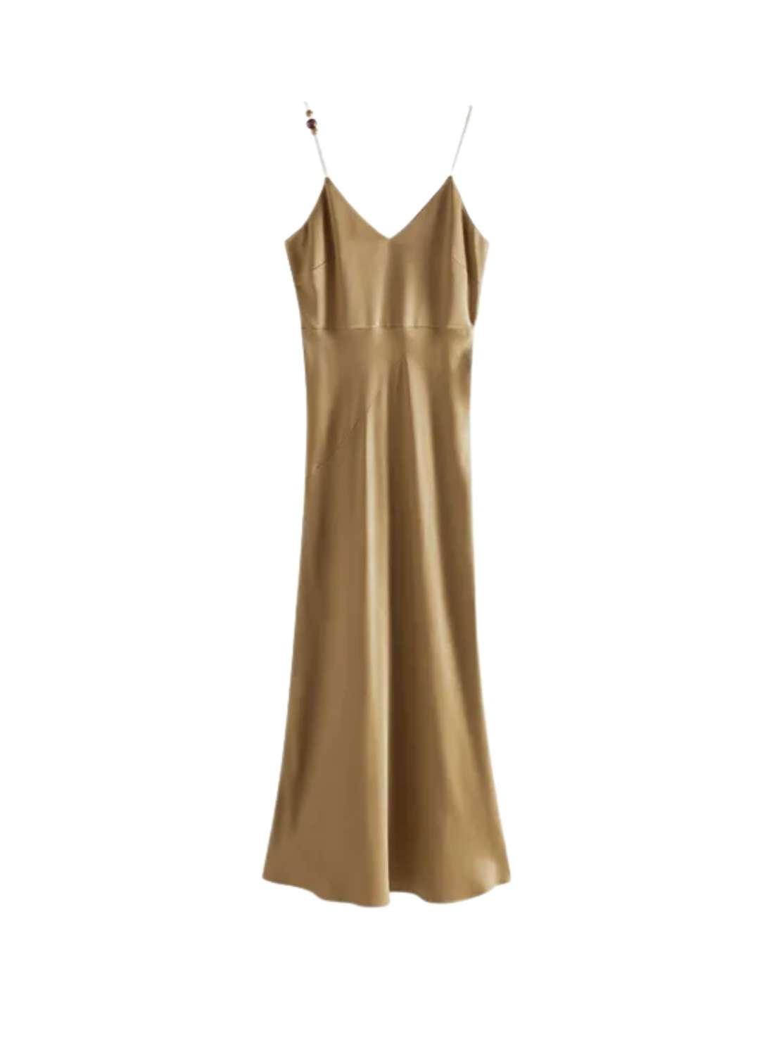 Fashion High-Quality Slip Dresses Silk Satin