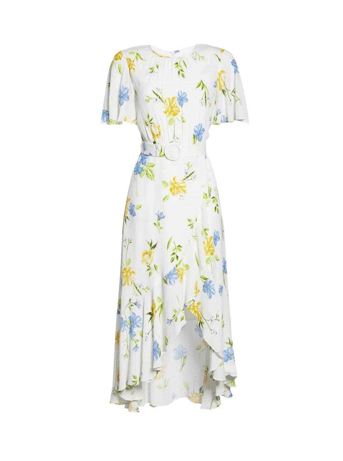 Floral Asymmetrical Midi Dress
