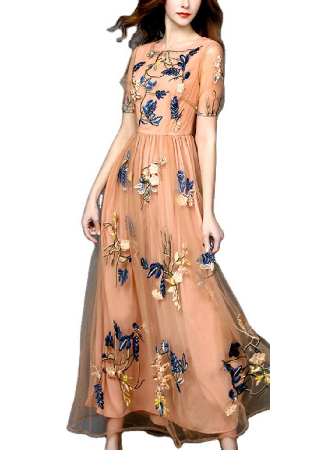 Floral Print Square Collar Dresses