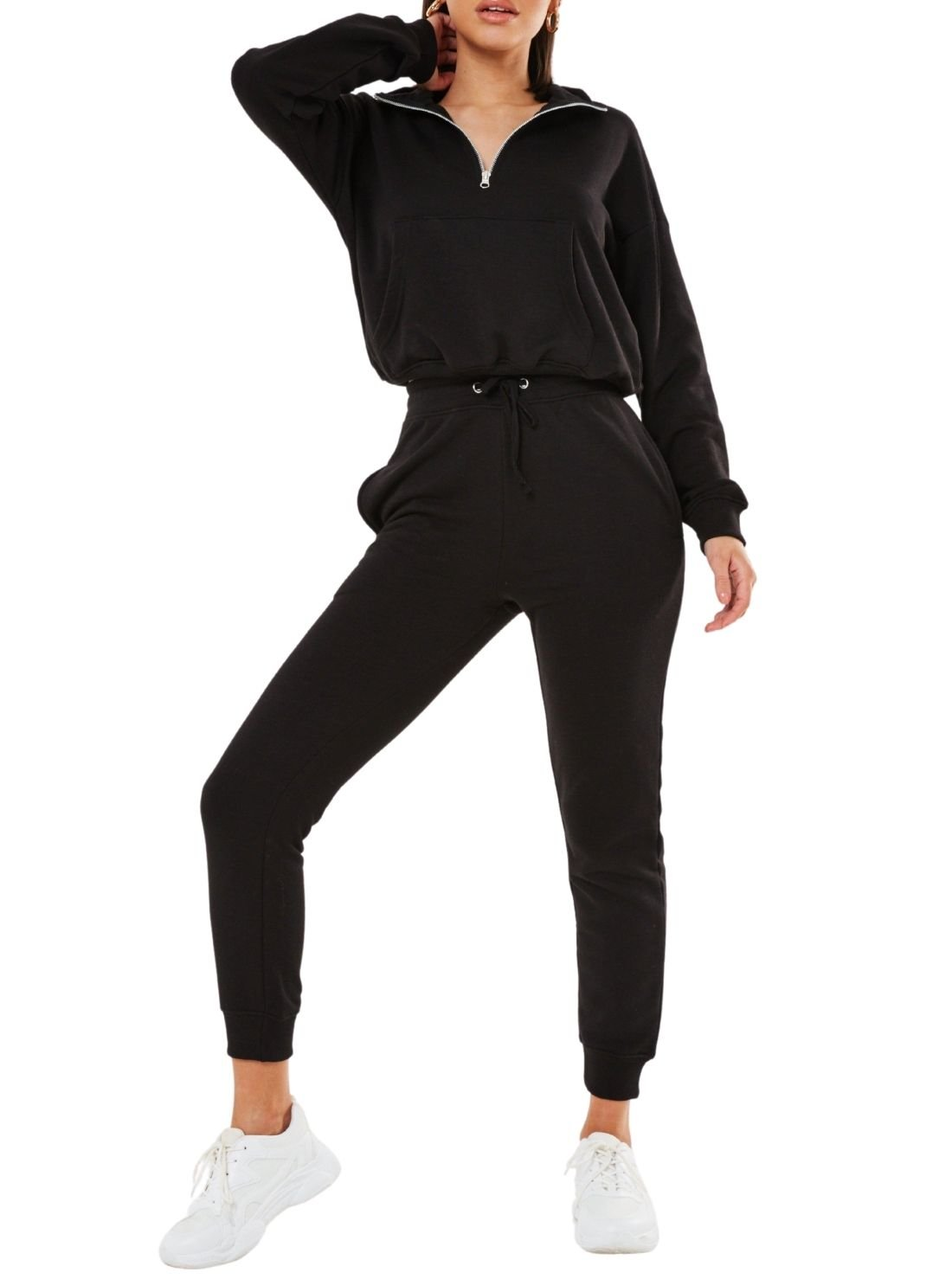 Front Zipped Hooded Jogger Sets