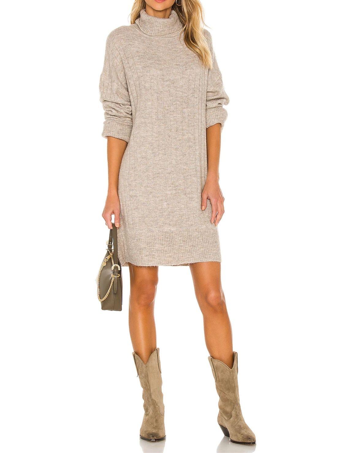 High Collar Wholesale Sweater Dresses
