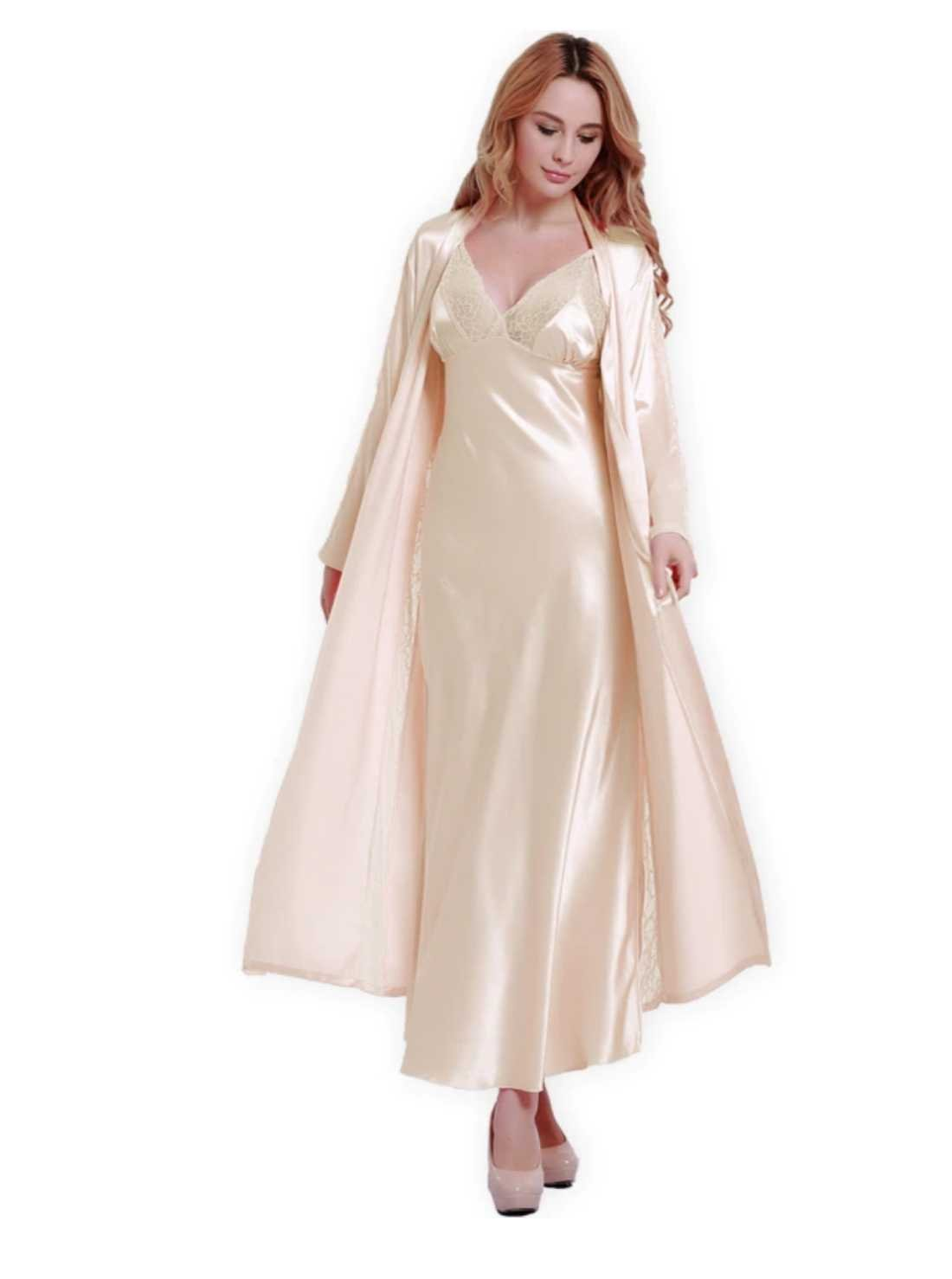 Long Satin Night Gown