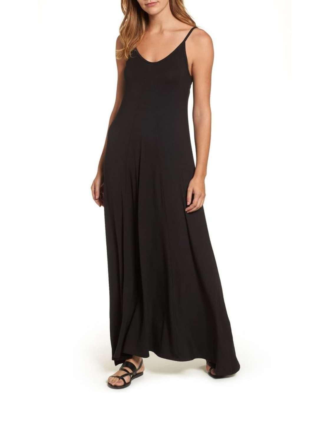 Petite Black Casual Maxi Dresses