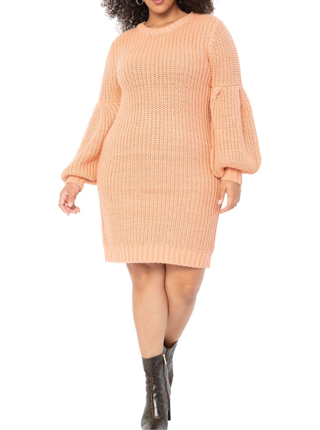 Plus Size Wholesale Sweater Dresses