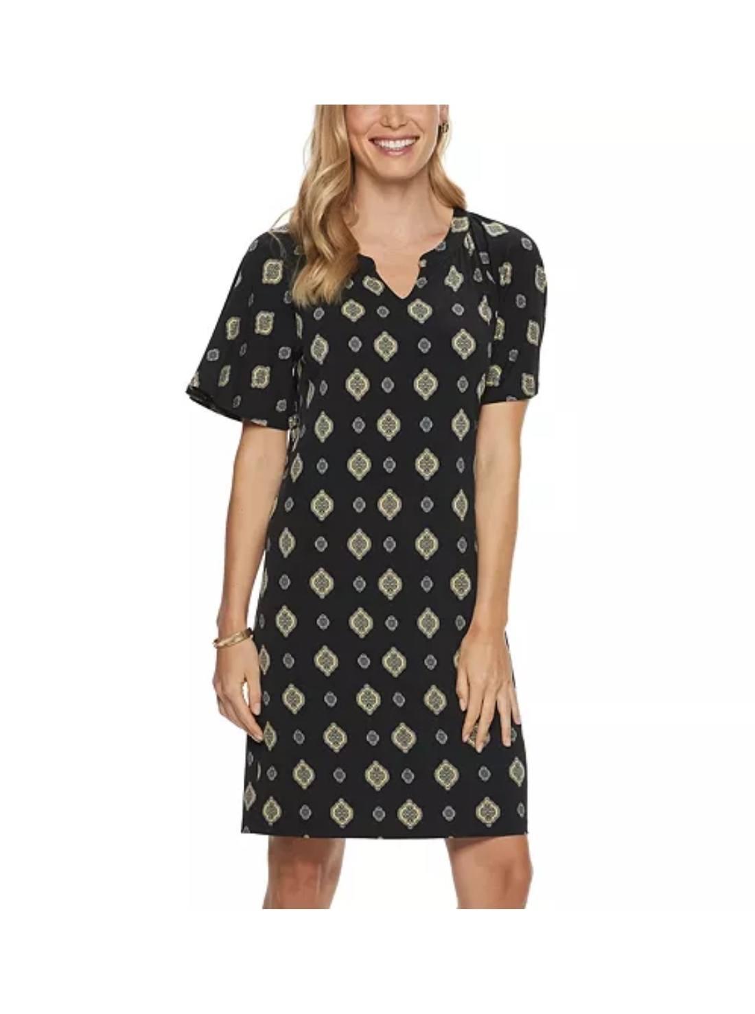 Polka Dot Raglan Shift Dress