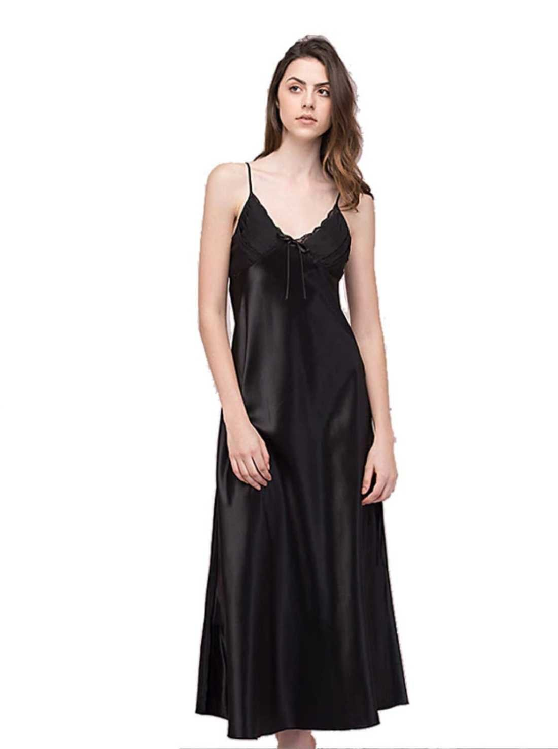Satin Ankle Length Nigh Gown