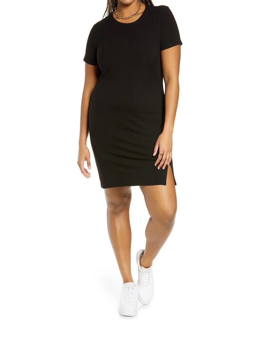 Short Sleeve Rib T-Shirt Dress