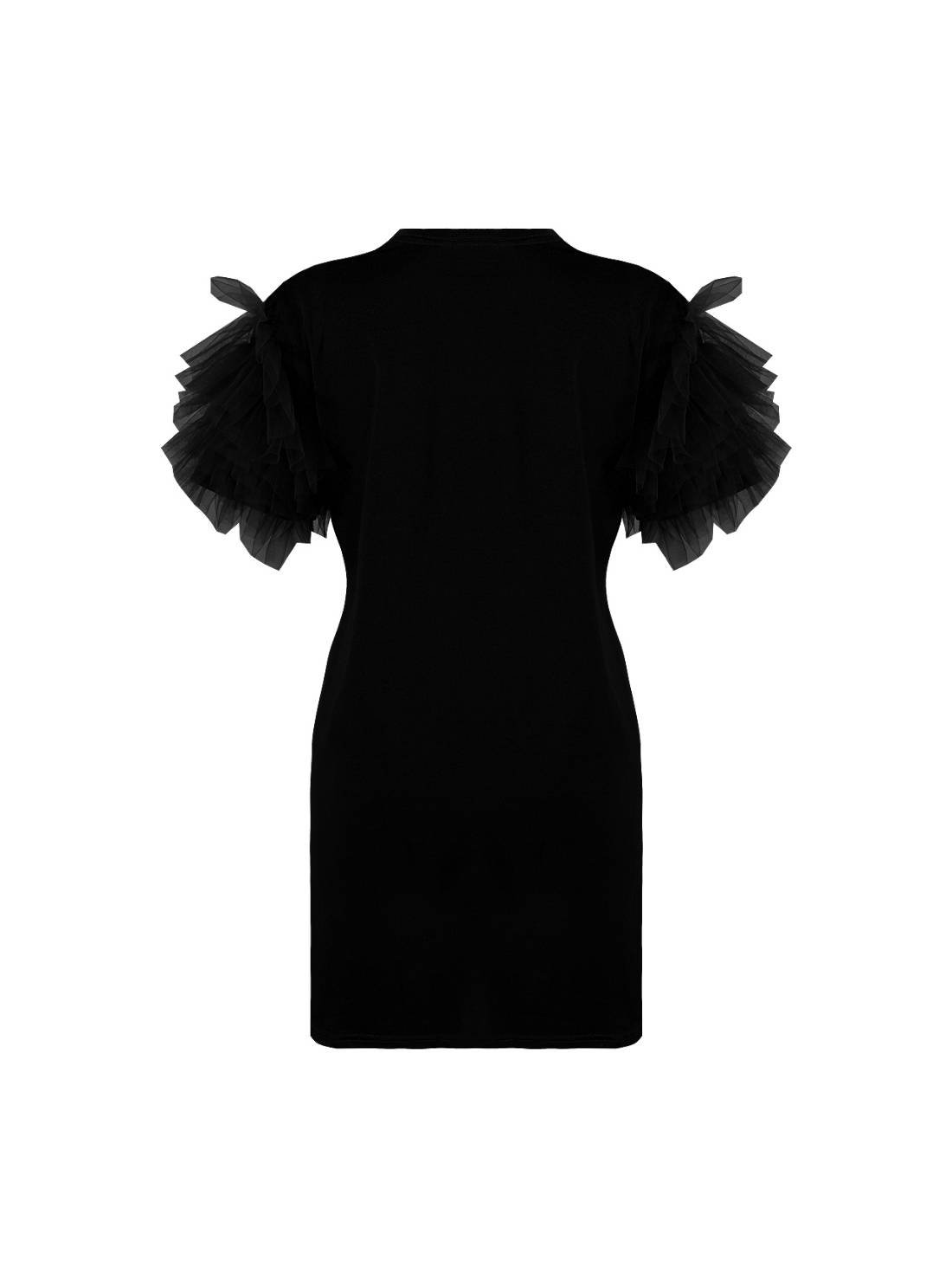 Tulle Sleeves T shirt Dress