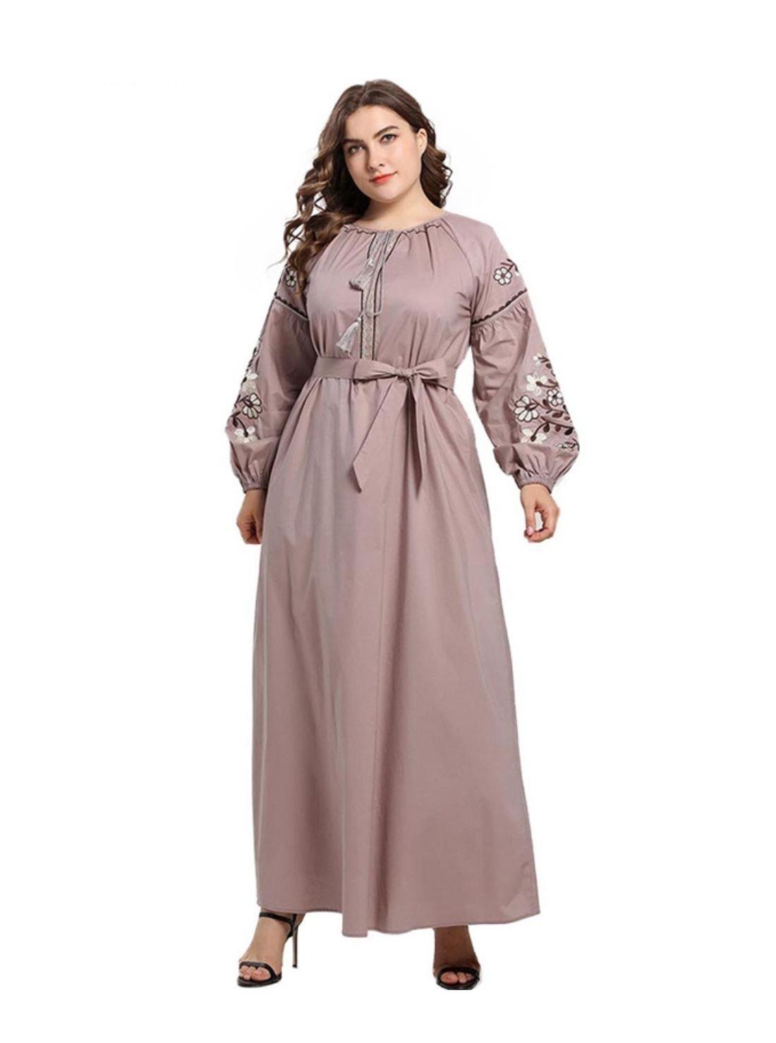 Elegant Women Casual Ethnic Long Dress