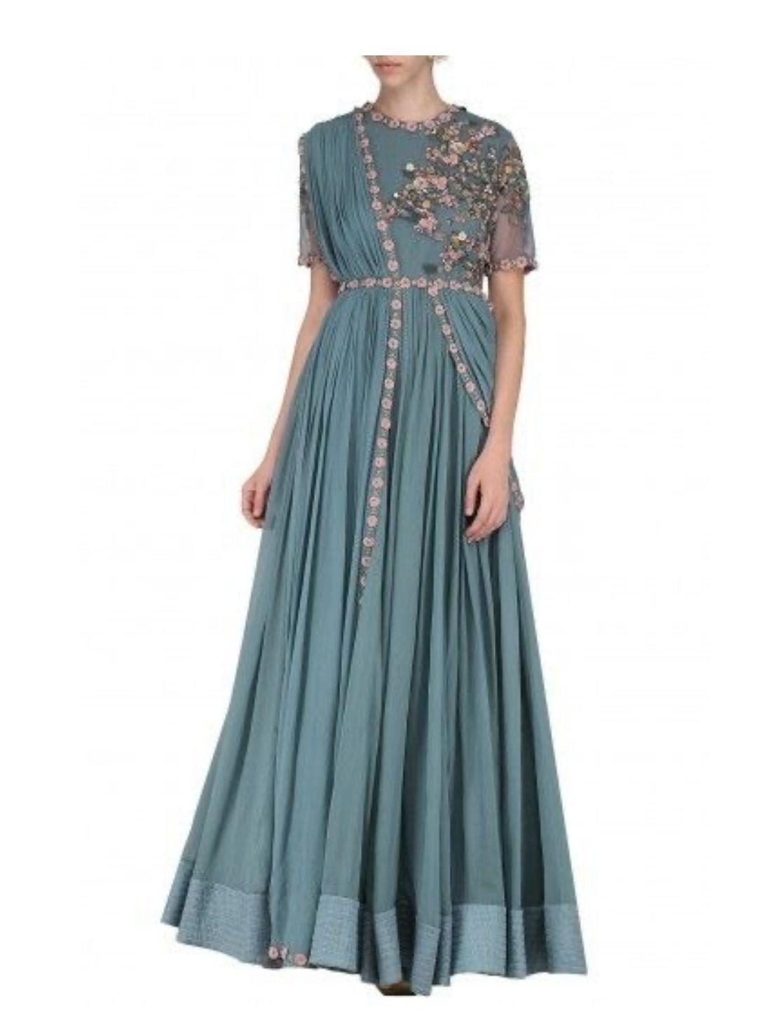 Ethnic Foor Lenght Evening Gown