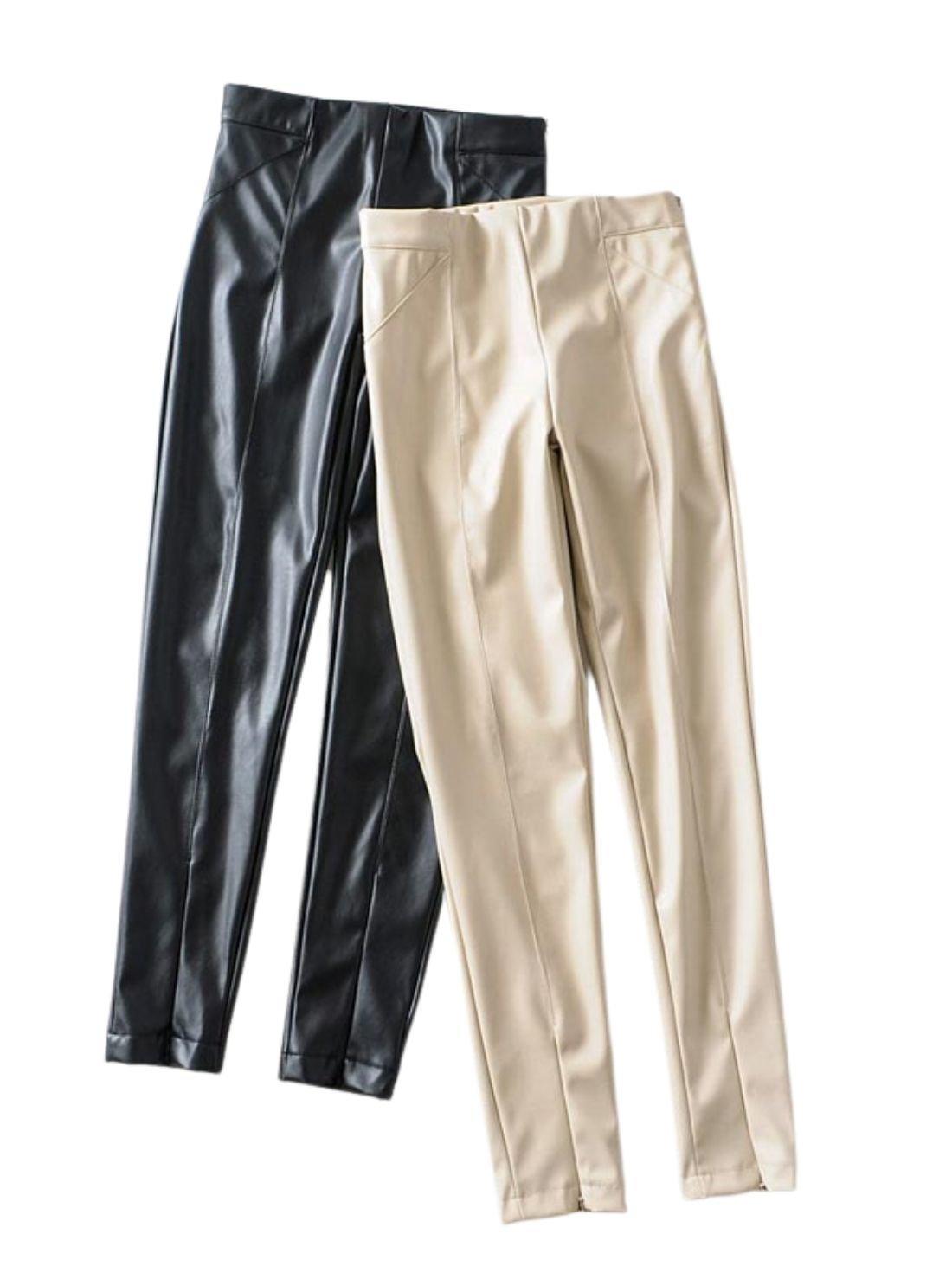 Women Slim Waist Bottom Zipper
