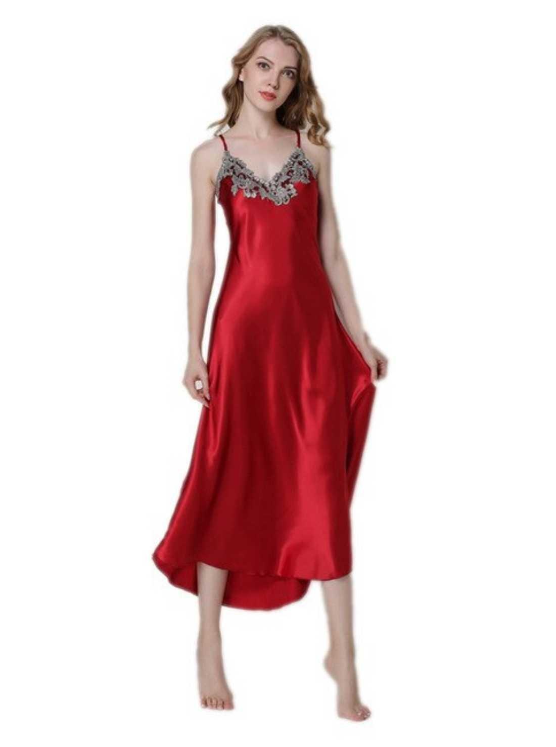 V-Neck Night Gown