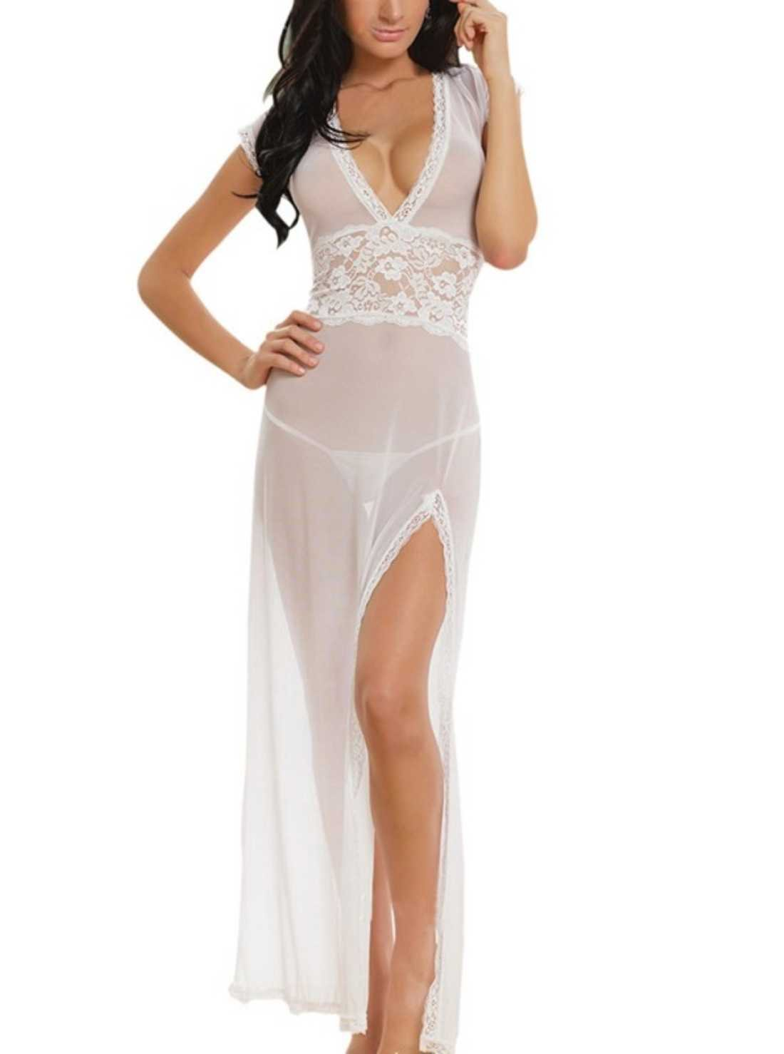 White Transparent Night Gown