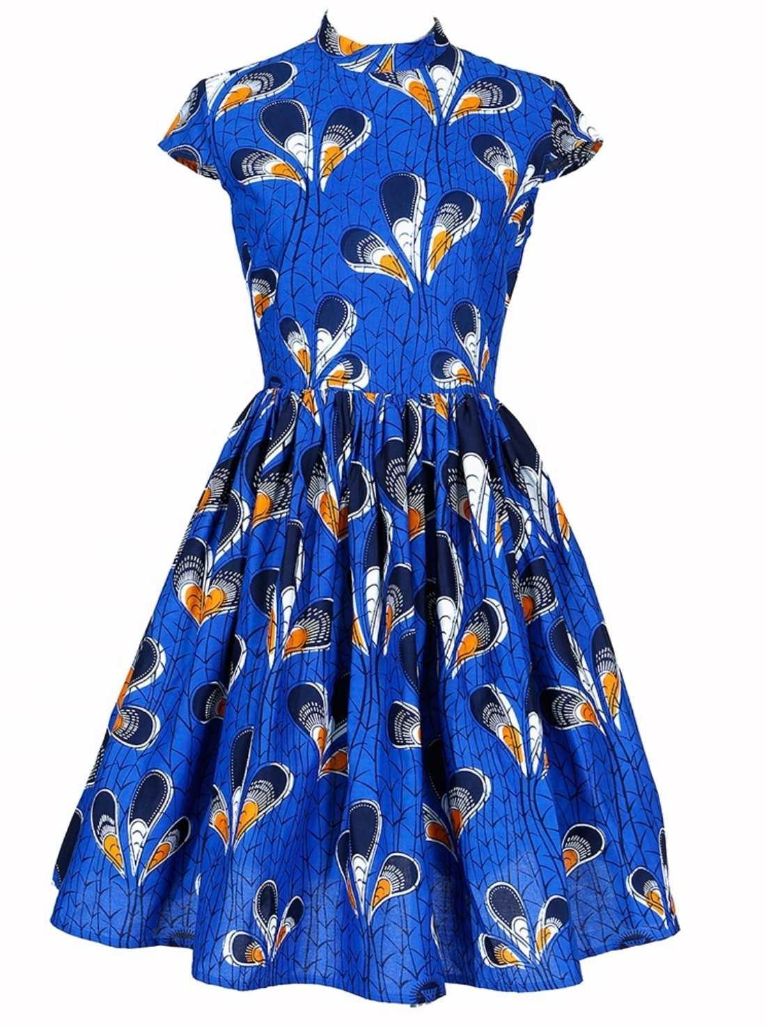 Wholesale A-Line Midi Cotton Dress