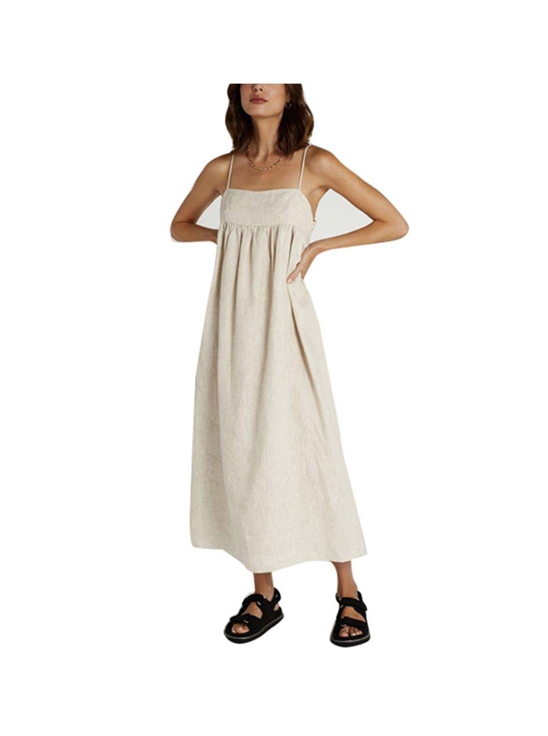 Wholesale Breathable Women Linen Dress