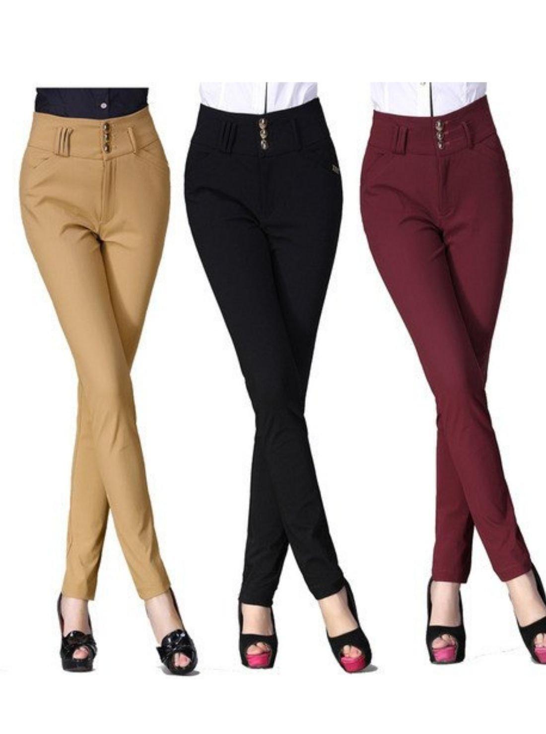 Wholesale Cotton Skinny Fit Ladies Pants