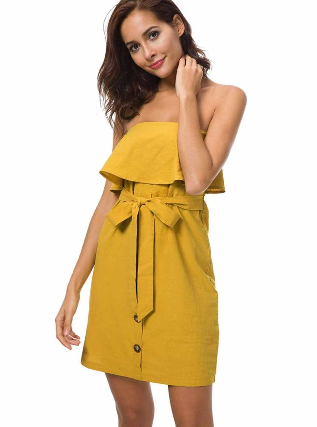 Wholesale Cotton Strapless Dress