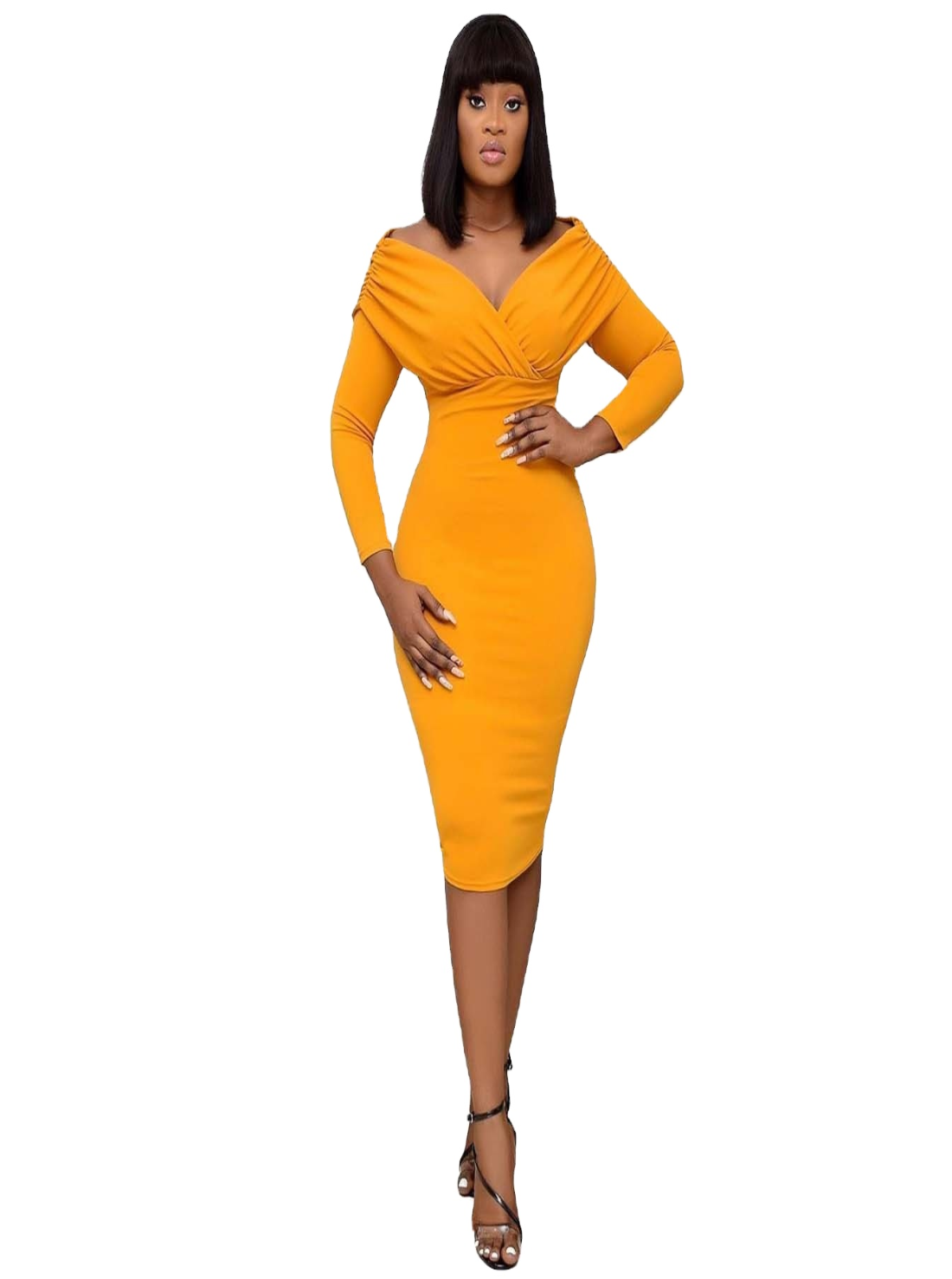 Wholesale Fitted Midi Dresses