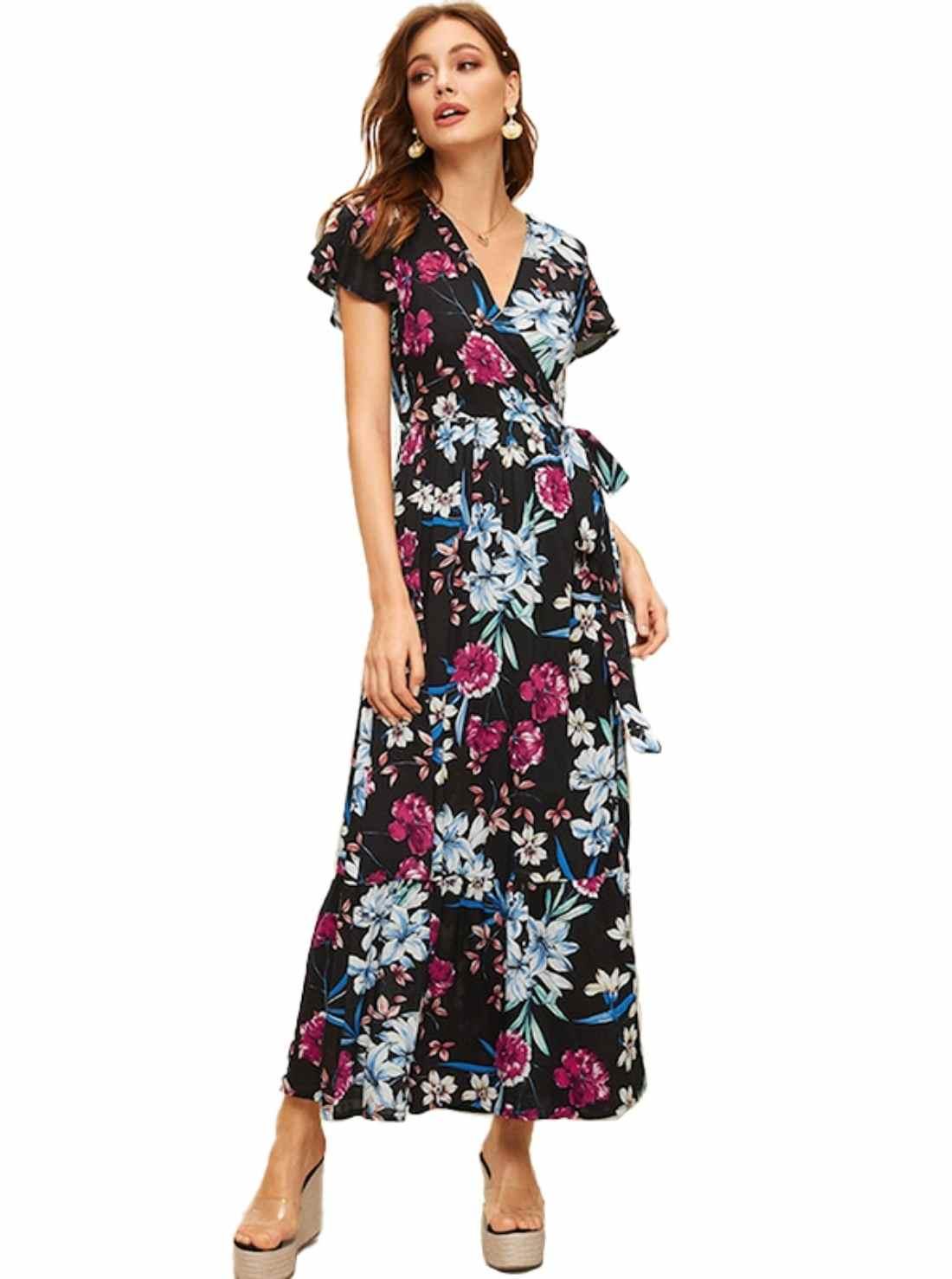 Wholesale Floral Cotton Dress