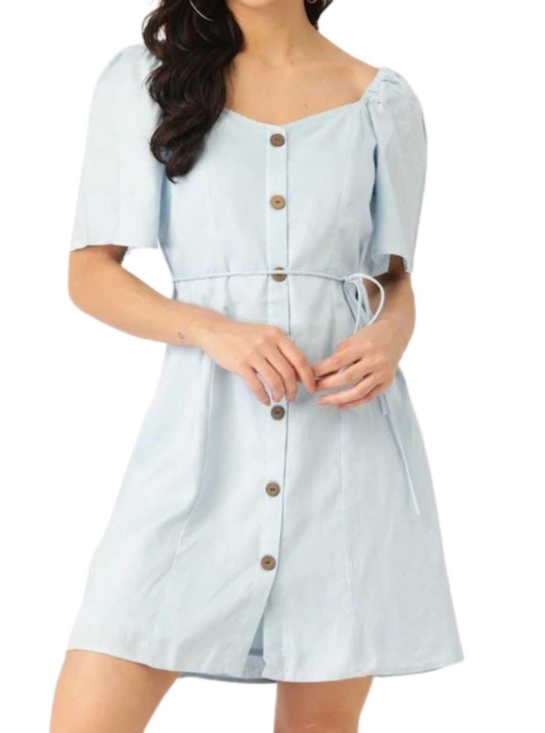Wholesale Half Sleeve Cotton Dress