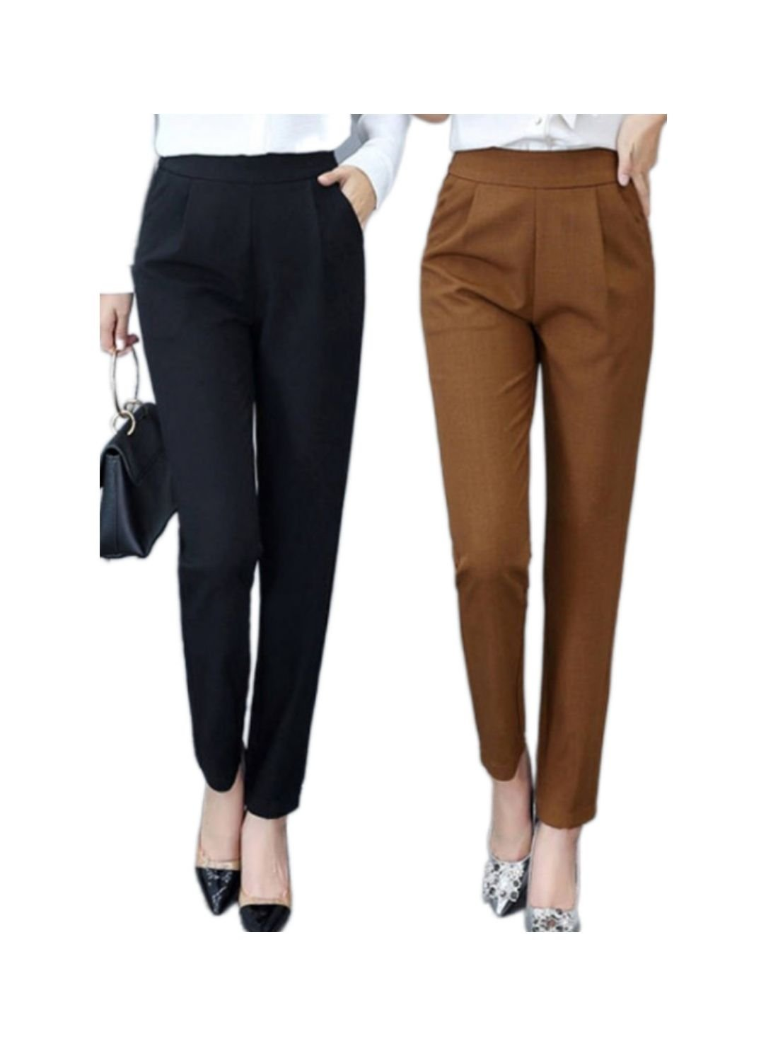 Wholesale High Waist Office Lady Casual Pants