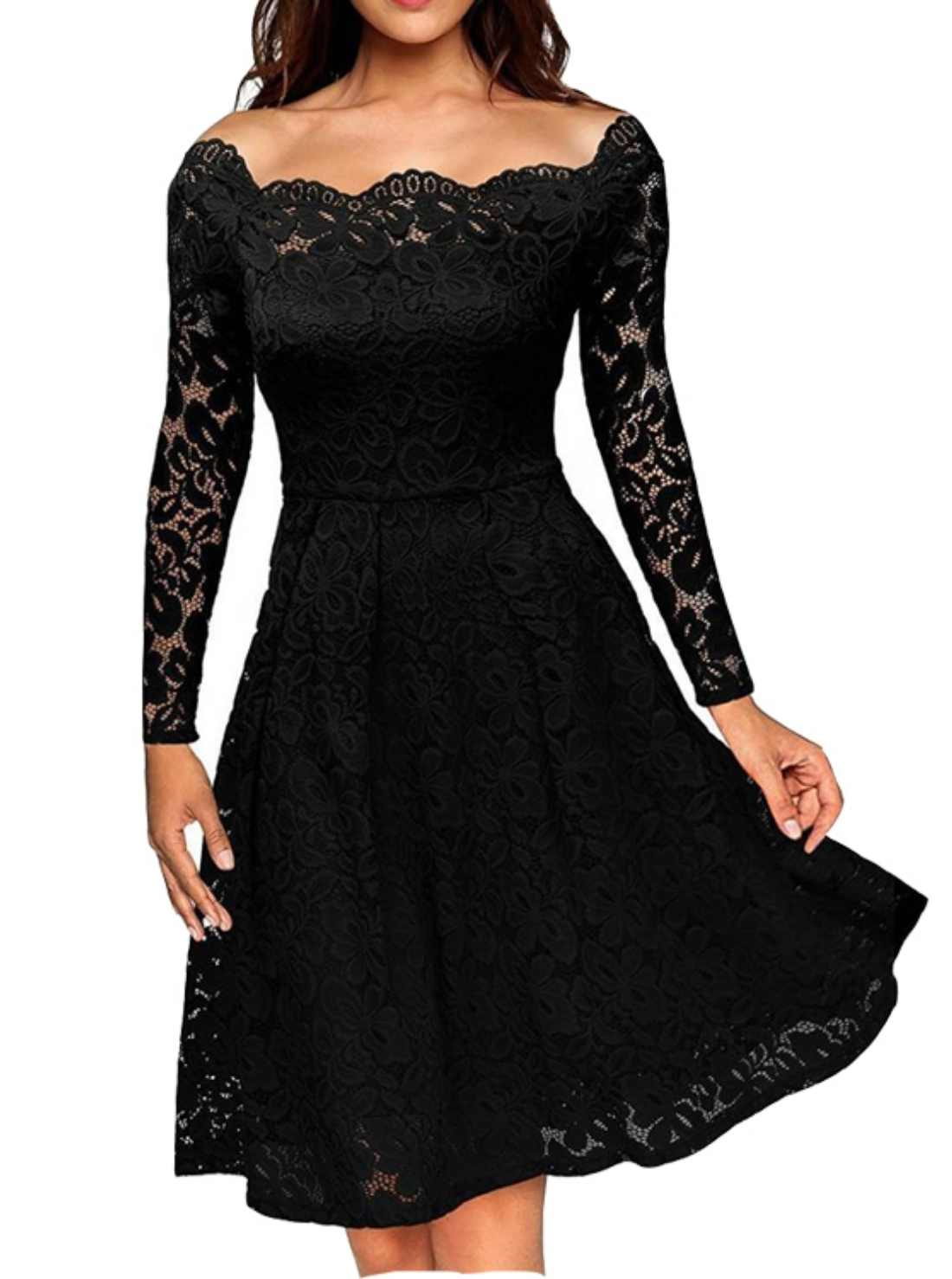 Wholesale Hollow Out Lace Cotton Dress