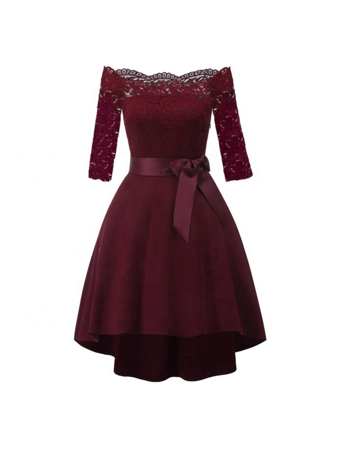 Wholesale Lace Embroidery Cocktail Dress