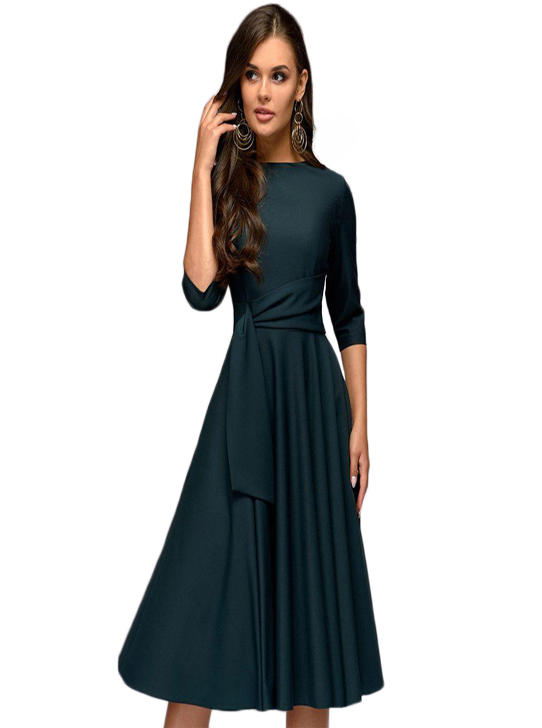 Wholesale Lace Up Slim Midi Dress