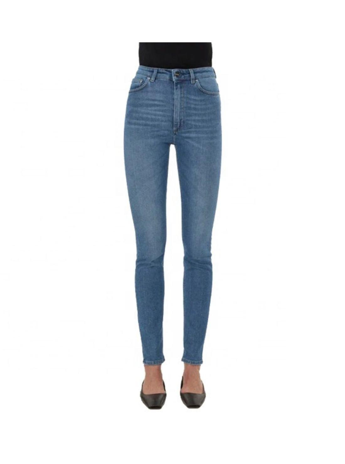 Wholesale Ladies Slim Denim High Waist Pants